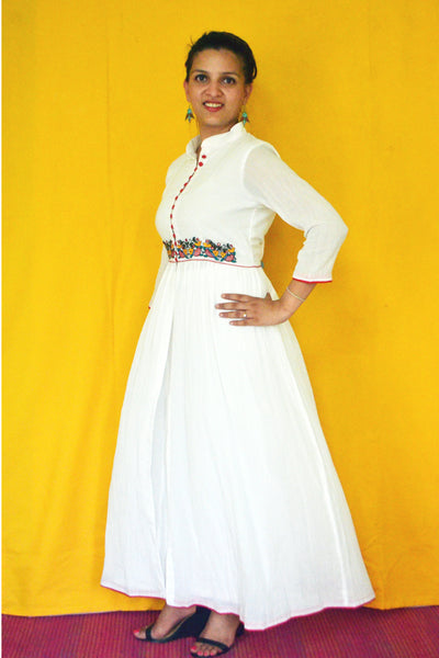 Madhubani Design Embroidered Kurta - LoveThisStuff
