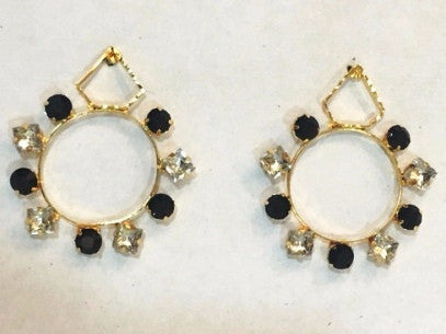 Hoop earrings Dulcelina Brass-Swarovski Earrings - LoveThisStuff.com