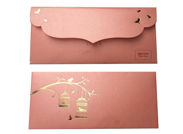 Envelopes Birdcage Design Gold Foiled Money/ Sagan Envelopes- Light Pink - LoveThisStuff.com