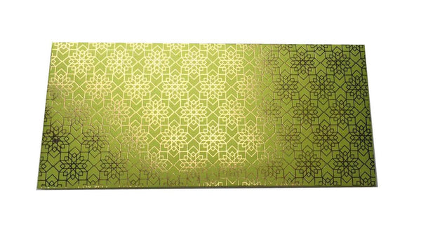 Envelopes Geometrical Design Gold Foiled Money/ Sagan Envelopes- Green - LoveThisStuff.com