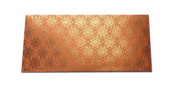 Envelopes Geometrical Design Gold Foiled Money/ Sagan Envelopes- Orange - LoveThisStuff.com