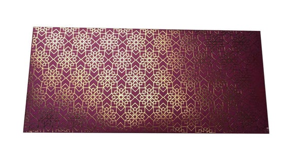 Envelopes Geometrical Design Gold Foiled Money/ Sagan Envelopes- Purple - LoveThisStuff.com