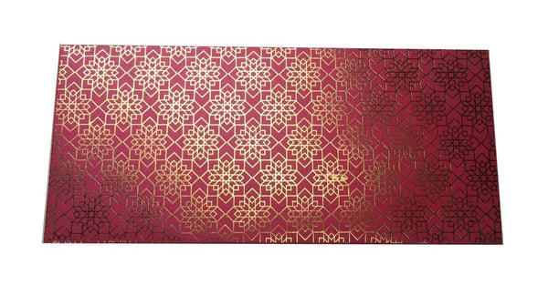 Envelopes Geometrical Design Gold Foiled Money/ Sagan Envelopes- Magenta - LoveThisStuff.com