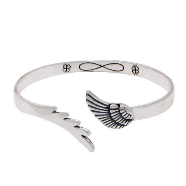 Women's Bangles CUSTOMIZED ENGRAVED FEATHER BANGLE - LoveThisStuff.com