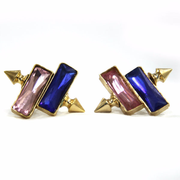 Fiza Brass-Swarovski Earrings