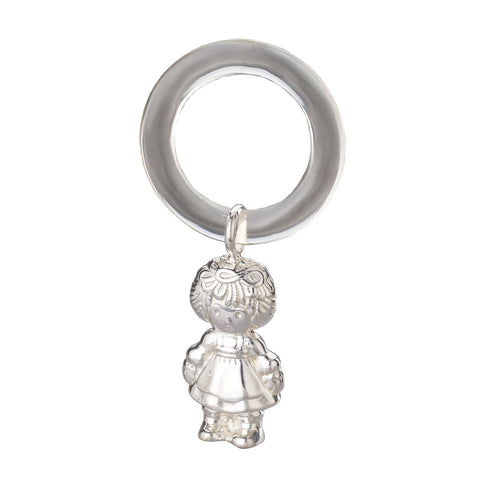 LECALLA 999 SILVER GIRL SHAPE BABY RATTLE - LoveThisStuff
