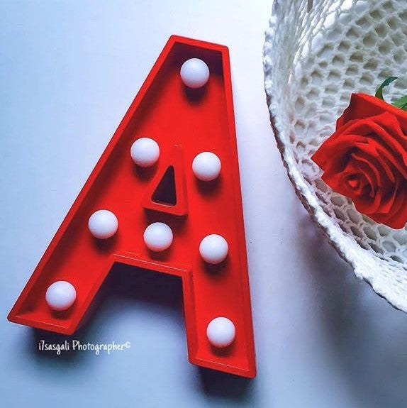 Marquee Light Letter A Red - LoveThisStuff