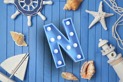 Marquee Light Letter N Blue - LoveThisStuff