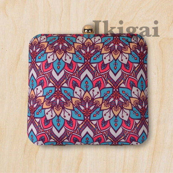 The Mirror floral clutch sling bag