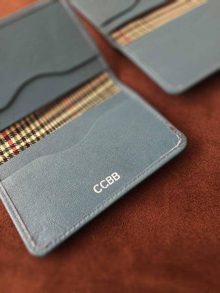 Minimal Wallet-Teal- Personalised