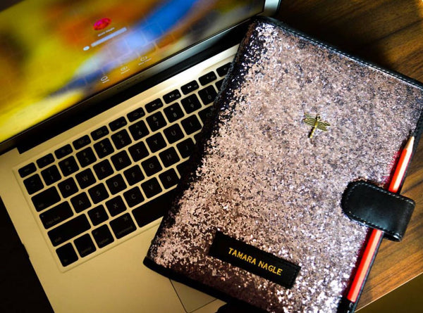 Planner Grey Glitter - Personalized