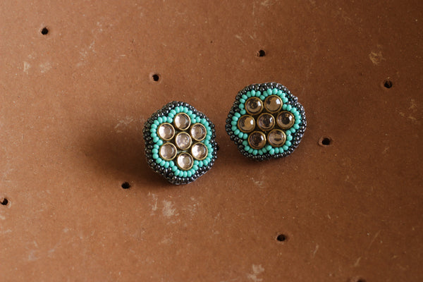Button Earing