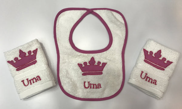 Napkin and bib set