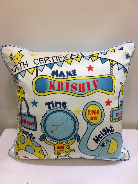 Personalized Baby Boyl cushion - LoveThisStuff