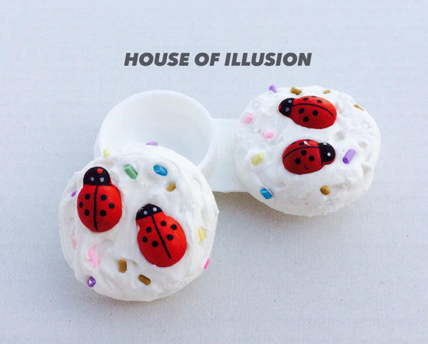 Lens Case Contact Lens Case:Sleeping Ladybird - LoveThisStuff.com