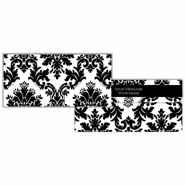 Black & White Motif Cash Envelopes