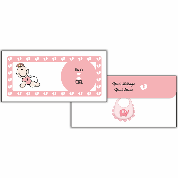 Baby Girl Cash Envelope