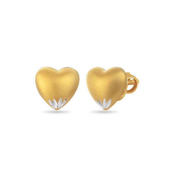 LeCalla Gold Heart Stud Earrings