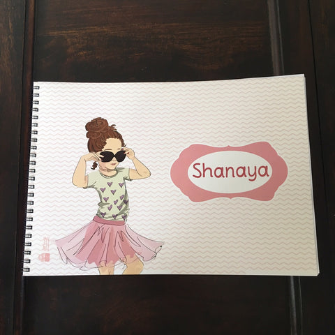 Kid's Sketch book Art Book - Young Girl (A4) - LoveThisStuff.com