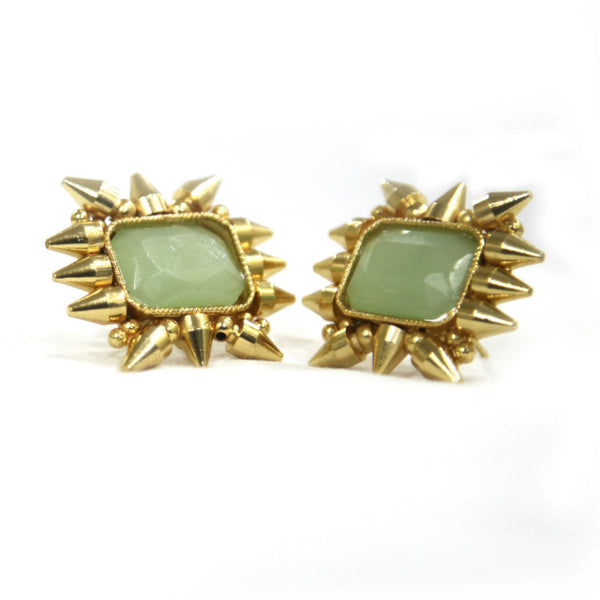 Kausar Brass-Swarovski Earrings