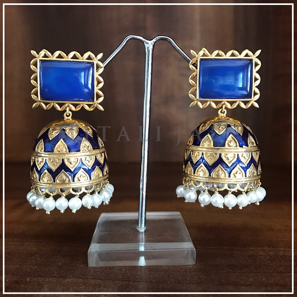 The Tribal Jhumkis in Blue
