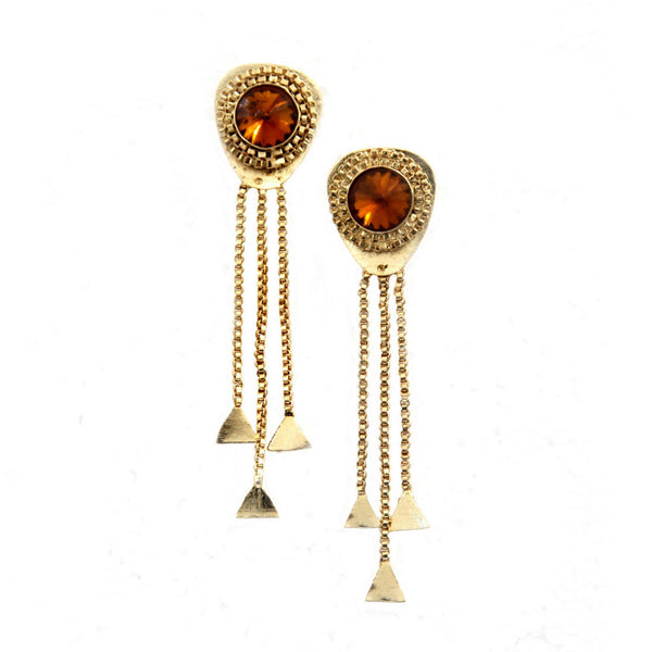 Mihrab Brass-Swarovski Earrings - LoveThisStuff