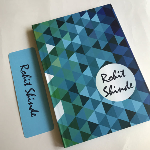 Diary Blue Abstract Notebook + Bookmark - LoveThisStuff.com