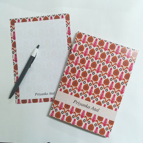 Letter Pads - Pink Ikat - NS44