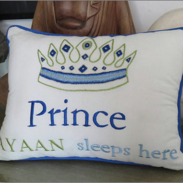 Prince Sleeps Here Personalized Pillow - LoveThisStuff
