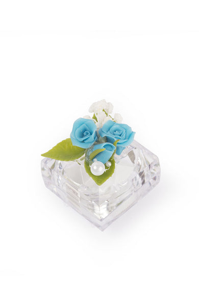 Jewellery Box Blue and White Flower Ring Box - LoveThisStuff.com
