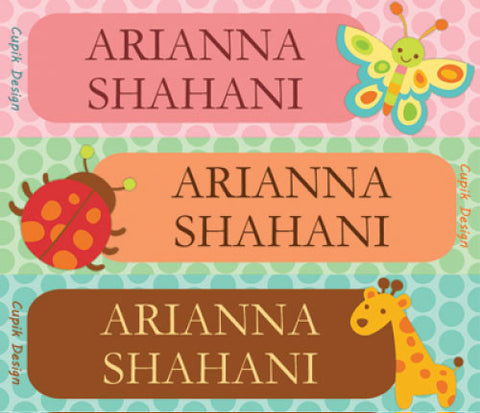 Animal Theme Name Sticker - SS23