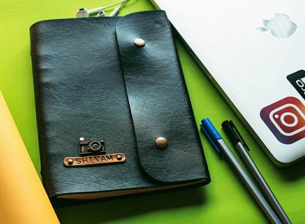 A5 Black Diary with Button