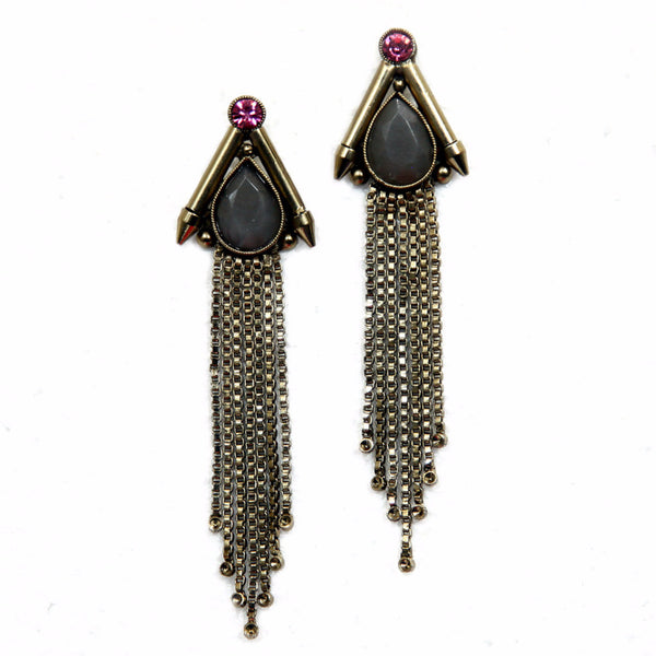 Sonter Brass-Swarovski Earrings