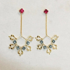 Symphrosia Brass-Swarovski Earrings