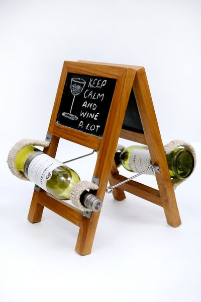 RUSTIC, LADDER STYLE WINE HOLDER