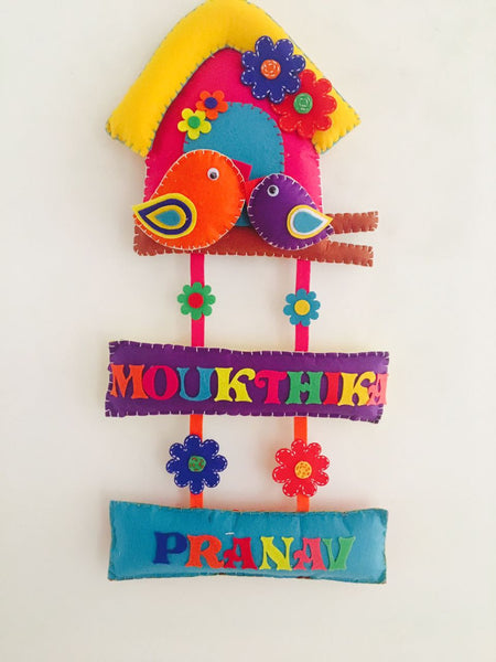 Kid's Nameplate Bird house name hangings - LoveThisStuff.com
