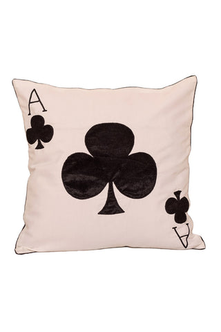 Cushion Cover Ace Of Club Cushion Cover - LoveThisStuff.com