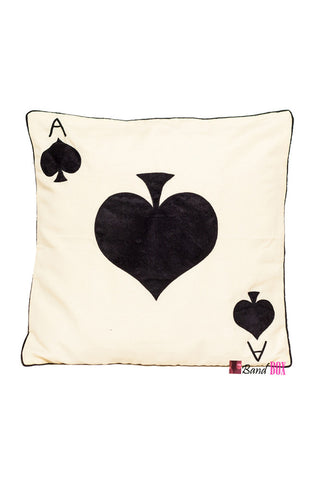 Cushion Cover Ace Of Spade Cushion Cover - LoveThisStuff.com
