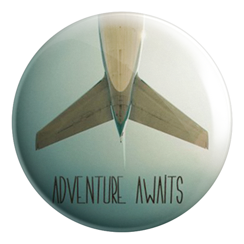 Adventure Awaits Badge Magnet