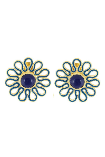 Flower stud: Blue