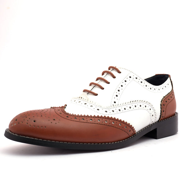 Men's Formal Shoes Bighorn white & tan - LoveThisStuff.com