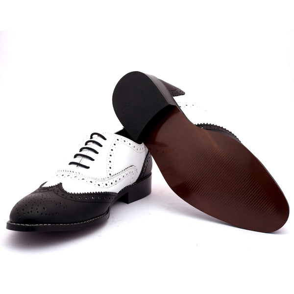 Men's Formal Shoes Bighorn white & black - LoveThisStuff.com