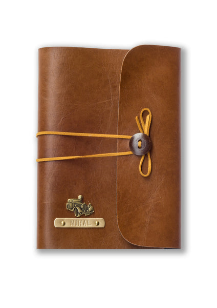 Tan Personalised A5 Diary