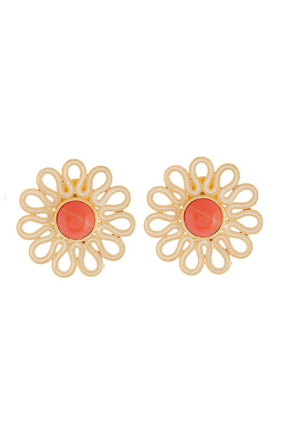 Flower Stud: Orange