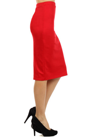 Pencil Skirt Red (Including Curvy)