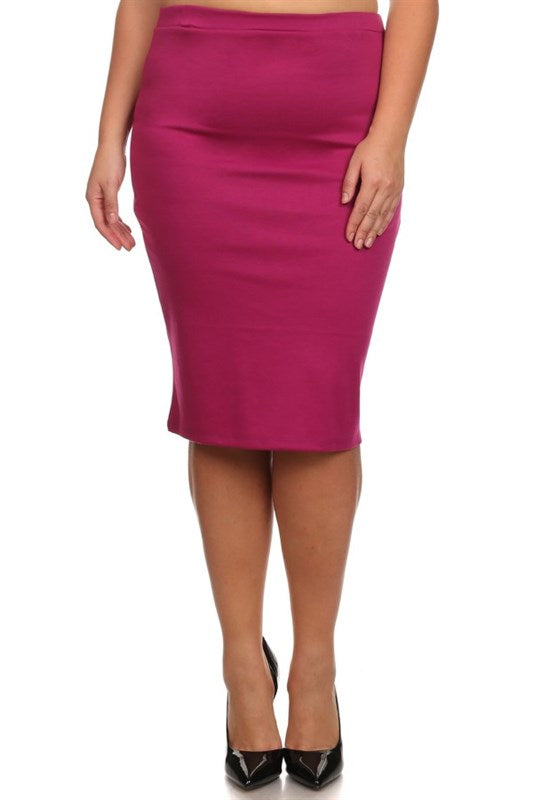 Pencil Skirt Magenta (including Curvy)