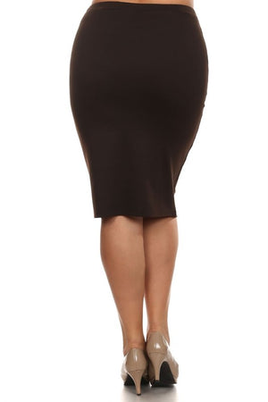 Pencil Skirt Brown (including Curvy)