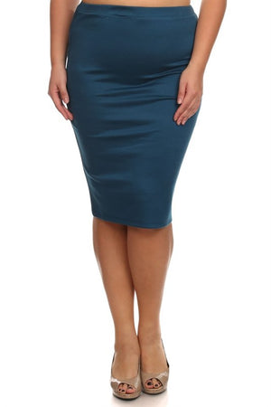 Pencil Skirt Teal (including Curvy)