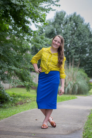 Pencil Skirt Royal Blue (including Curvy)