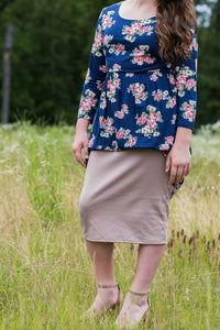 Pencil Skirt Khaki (including Curvy)